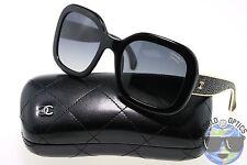 Chanel Sunglasses 5272-Q 622/S8 Black/Gold w/ Grey Gradient Polarized | ITALY