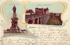 PRE-1907 QUEBEC CANADA CHAMPLAIN MONUMENT DUFFERIN TERRACE and CHATEAU 1902