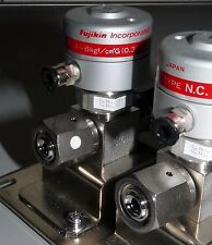 FUJIKIN 316L-P STAINLESS STEEL DIAPHRAGM VALVE NORMALLY CLOSED VCR TYPE N.C.