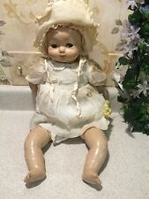 "ANTIQUE 1920'S 19"" EFFANBEE DOLL CLOTH & COMPOSITION FLIRTY SLEEP EYES ORIGINAL"