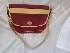 Etienne Aigner Classic Burgundy Canvas & Leather Shoulder Bag VTG Handcrafted