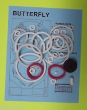 1977 Sonic Butterfly pinball rubber ring kit