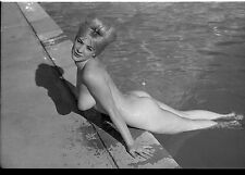 Virginia Rogers vintage nude pinup original 35mm b&w negative
