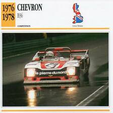 1976-1978 CHEVRON B36 Racing Classic Car Photo/Info Maxi Card