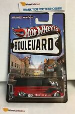 '85 Chevy Astro Van  Black/Red * Hot Wheels Boulevard Series w/ Real Riders  A19