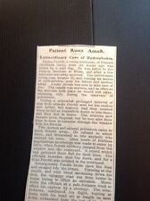 A2-3 Ephemera 1903 Article A Case Of Hydrophobia Pernate Italy Perotti