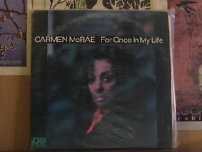 CARMEN MCRAE, FOR ONCE IN MY LIFE - ATLANTIC LP SD8143
