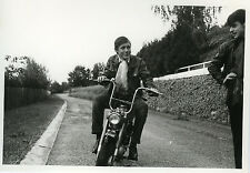 PHOTO ANCIENNE - VINTAGE SNAPSHOT - MOTO MOTOCYCLETTE CHAPPY MOTO - MOTORCYCLE