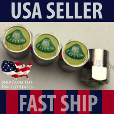 LOTUS Rims Logo Valves Stems Caps Chromed Covers Wheels Air Car Tires Emblem USA