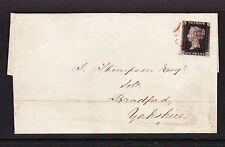 GREAT BRITAIN 1840 1d BLACK ON WRAPPER, 2½ MARGIN, STATED TO BE PLATE 9.
