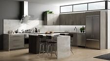 11 x 14 Contemporary Matrix Silver Kitchen Cabinets Door Sample, Slab, Gray