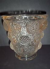 VERLYS FRANCE FENTON GLASS LES CABOCHONS RASPBERRY VESSEL OF GEMS CRYSTAL VASE