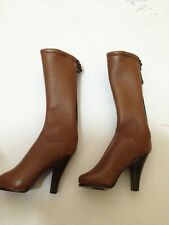 ZYToys1/6 Brown Leather Medium long Boot @Kumik female body Hot Toys Phicen EB