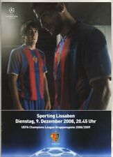 Orig.PRG  Champions League 08/09   FC BASEL - SPORTING LISSABON  !!  RARE