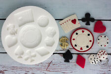 Stampo in silicone, casinò, poker Chip, CARD completi, Las Vegas, ellam Sugarcraft M137