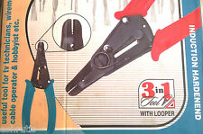 3 in 1 Cable Wire Insulation Stripper Cutter & Plier - A Multi Functional Tool.
