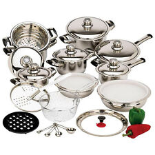 28pc 12 Element High Quality, Greaseless Surgical Stainless Steel Cookware Set