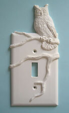 Owl light switch plate wall cover toggle switchplate plate outlet cabin decor