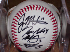 BASEBALL SIGNED BY JASON MARTINSON, SEAN NICOLE, MICHAEL TAYLOR AND CHRIS CURRAN