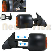 PAIR POWER TOW MIRRORs(L+R Side View)~Telescoping+Heated+LED Signal~07-13 Tundra