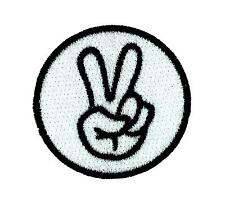Patch toppe toppa ricamate termoadesiva moto vintage biker sign peace
