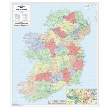 Irish Political Laminated Wall Map For Business