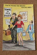 Vintage Postcard: Bamforth 1020, Business Man, Busty Lady, Pick Pocket, Chaso