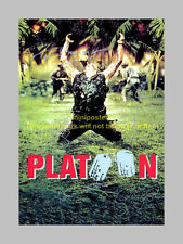PLATOON CAST x5 PP SIGNED MOVIE POSTER 12X8 DEFOE