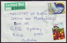 "NSW POSTMARK ""YOOGALI"" ON 1987 CERTIFIED MAIL COVER (RU0275)"