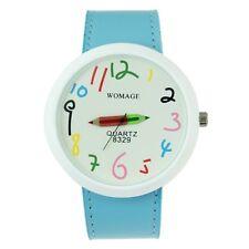 Reloj Womage diseño Lápices de colores. Esfera grande. Pencils watch A1693