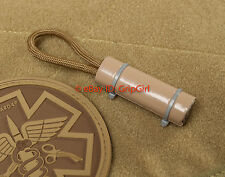 EDC Paracord 2' Duct Tape Tactical Coyote FDE E&E Emergency Survival Zipper Pull