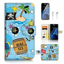 Samsung Galaxy S7 Flip Wallet Case Cover P1450 Pirate