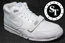 NIKE LAB COURT AIR TRAINER 1 MID SP/ FRAGMENT 806942-110 US OPEN WHITE SZ: 10