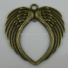 10259 2PCS Alloy Large Feather Wings Pendant Charm Fit Dangle Jewelry Finding