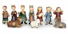 Set Of 10 Christmas Figures Nativity Set