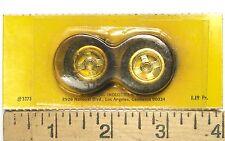 2pc Vintage Classic 1/24 1:24 Slot Car MIRROR PLATE FRONT WHEELS Japan 3373 MOC