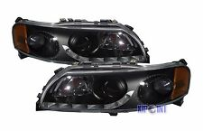 For Volvo S60/V70 2001-2004 Styling Glass Headlight Black Bezel RHD