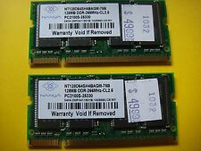 Five 128MB DDR 266MHz CL2.5 SODIMM laptop memory Used 1032,3,4-1