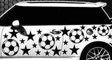 93-pièces Football Étoiles Étoile Autocollants Pour Voiture Kit