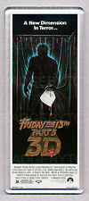 FRIDAY THE 13th Part 3 movie poster LARGE 'WIDE' FRIDGE MAGNET - HORROR CLASSIC!
