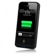 Teléfono Moda Power Funda Protector Para Iphone 4/4s-Negro 1450mah