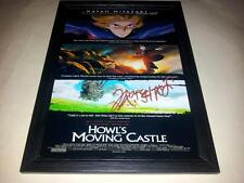 "HOWL'S MOVING CASTLE SIGNED & FRAMED 12""X8"" POSTER HAYAO MIYAZAKI HOWLS"