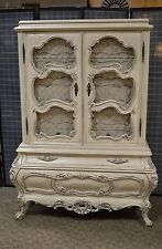 Vintage Ornate Distressed Shabby Chic Venetain Style Bombe' Chifferobe/Armoire