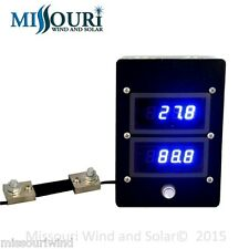 dc digital 100 amp 100 volt meter for wind turbine solar marine RV gang box USA