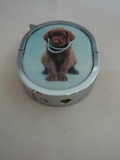 Brown Labrador Lighter - Oval Refillable Gas Lighter in Velvet Gift Pouch