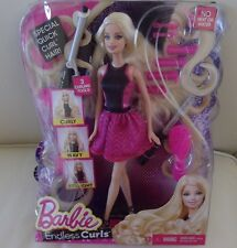 Quick Curl Long Hair Barbie Doll Curling Style Iron Endless Curls Playset