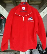 Planet Hollywood Pullover Sweater Lipton Ice Tea Red Polyester Zip Top XL
