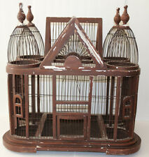 "Antique/vintage large and beautiful VICTORIAN bird cage / house 26"" x 25"" x 16"""