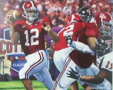 Alabama Football THE LAST PASS signed art print by Daniel Moore