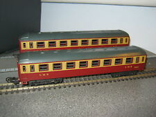 2 Lima HO Gauge LMS Maroon & Cream Composite Coaches